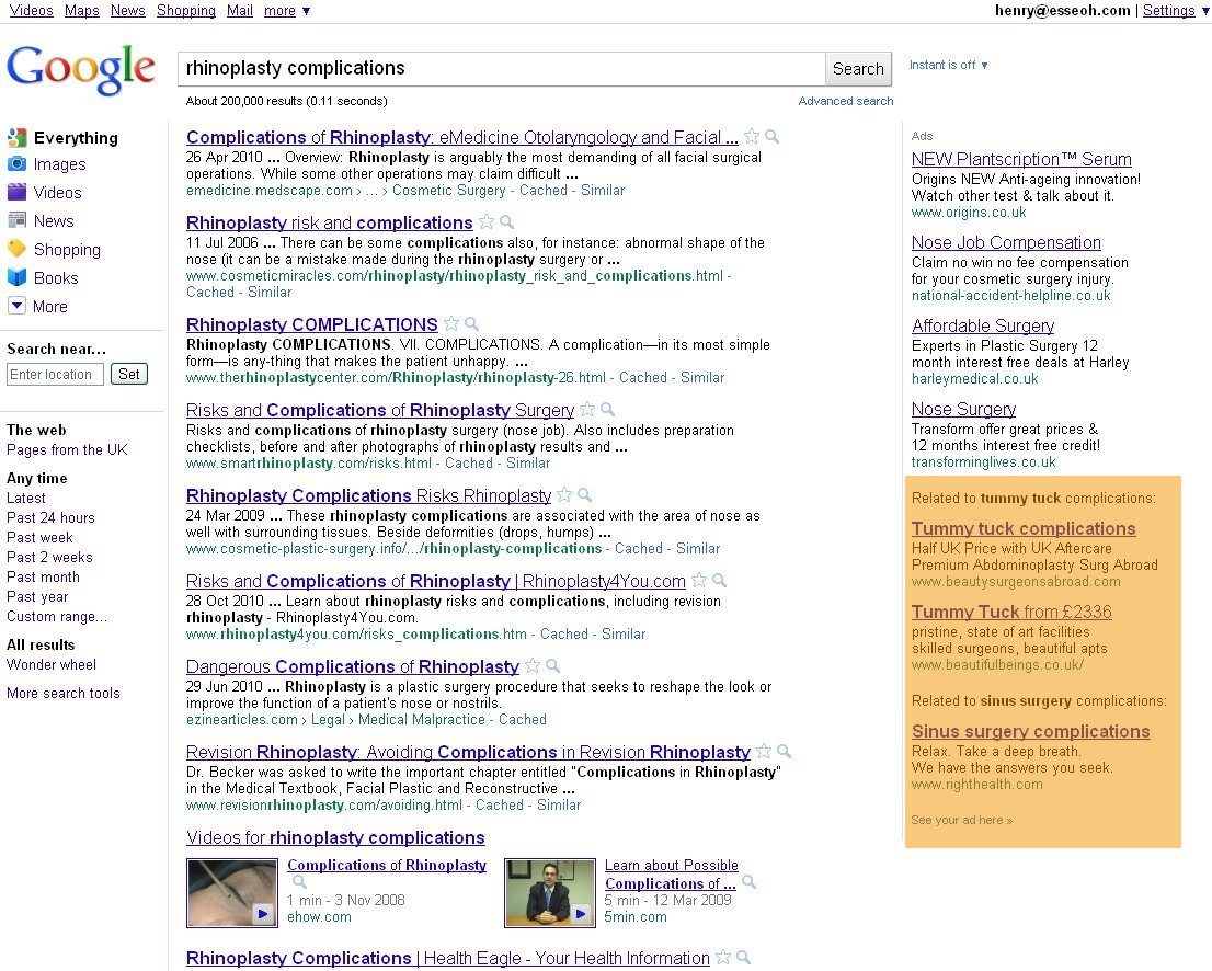 Google adwords recommended results