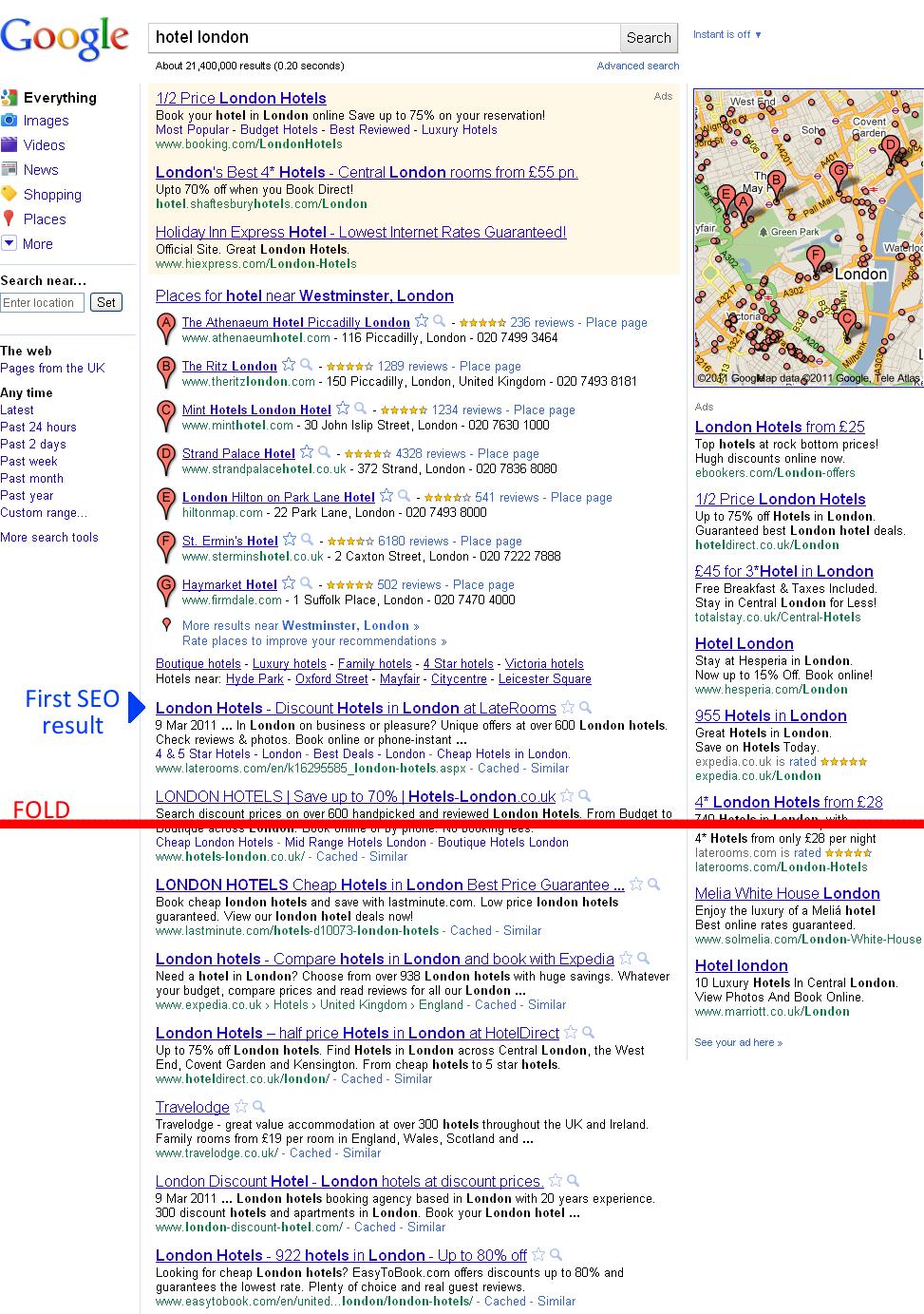 Google real estate allocation